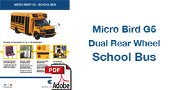 Micro Bird G5 Dual Rear Wheel School Bus