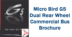 Micro Bird G5 Dual Rear Wheel Commercial Bus Brochure
