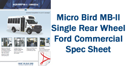 Micro Bird MB-II Single Rear Wheel Ford Commercial Spec Sheet