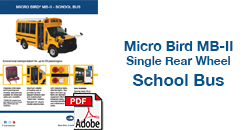 Micro Bird MB-II Single Rear Wheel School Bus