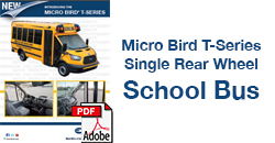 Micro Bird T-Series Single Rear Wheel School Bus